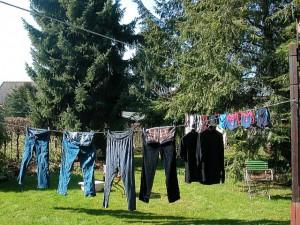 Wäschetrocknung im Garten